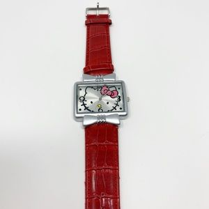 Hello Kitty Red Leather Watch NWOT
